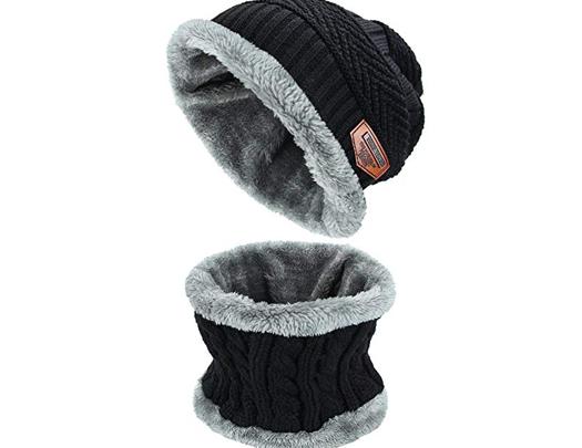 gorro de lana mujer Gorro con braga para mujer o hombre gorro de invierno suave y gordito abrigador