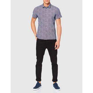 camisa juvenil para jeans oscuros outfit hombres primera cita