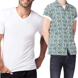 camisetas blancas para camisas hawaianas de verano outfit hombres