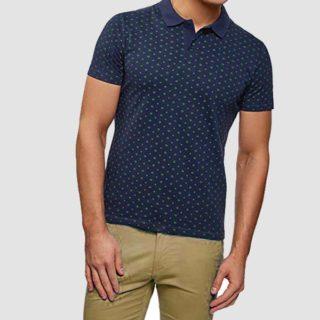 camiseta con cuello de estampado menudo para hombre outfit semiformal