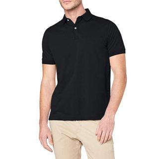 camiseta negra lisa para pantalones claros