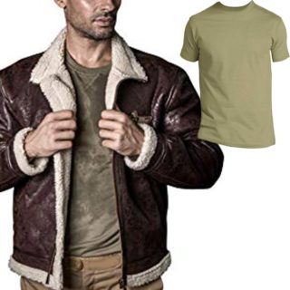 camiseta para hombre estilo militar outfit chamarras de piel hombre