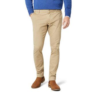 pantalones de mezclilla color caqui outfit para hombre delgado elegante para ir al trabajo