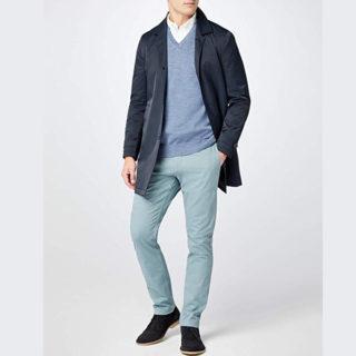 pantalones de mezclilla para vestir elegante outfit hombre de trabajo ropa contrastada