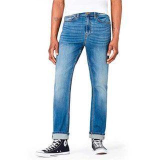 pantalones rectos de mezclilla para hombre