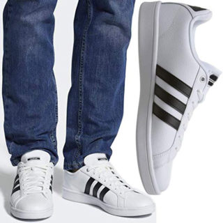 tenis blancos hombre 3 rayas para pantalones de mezclilla