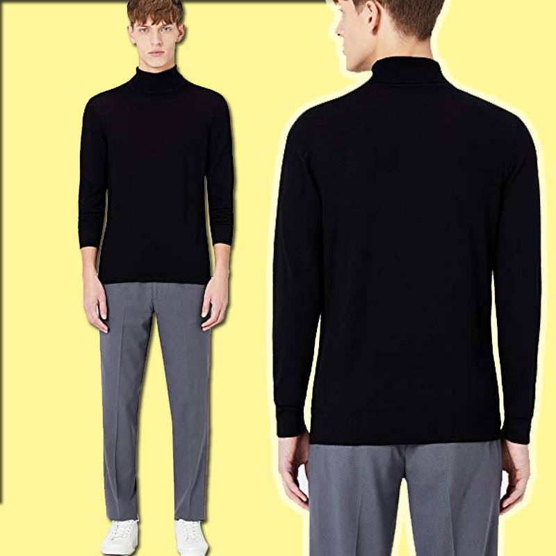 mejor-jersey de lana con cuello alto para hombre