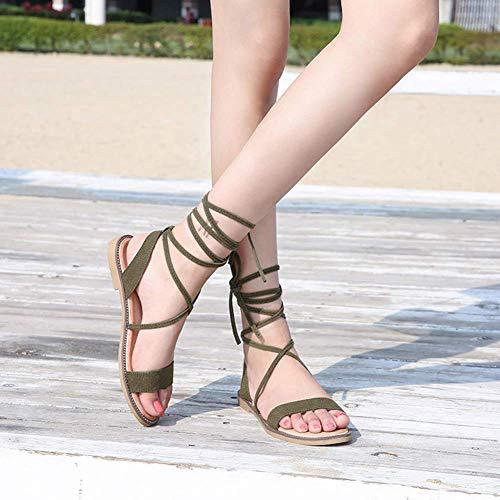 sandalias romanas con tiras