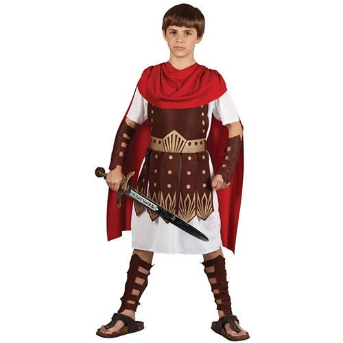 imagen del disfraz de soldado romano para niño. Vestimenta de semana santa para niño