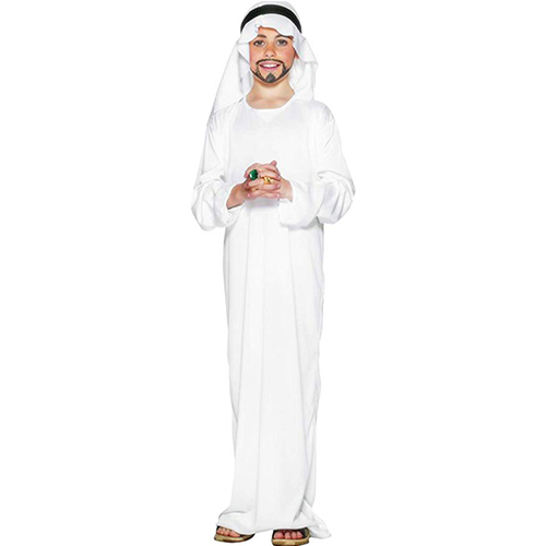 foto de la vestimenta de Jesus para semana santa, una tunica blanca infantil