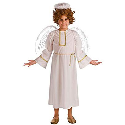 imagen de tunica blanca para disfraz de niño penitente de semana santa
