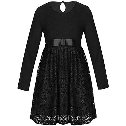 imagen de vestido negro de niña para traje de manola para semana santa