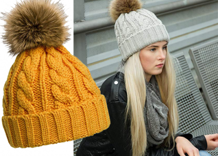 gorro de lana mujer Gorro de lana suave y caliente para mujer